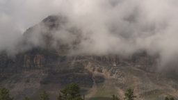 HD2009-8-8-17 clouds and mtns TL Stock Video Footage
