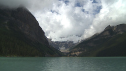 HD2009-8-8-23 Lake Louise with clouds TL Footage