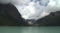 HD2009-8-8-23 Lake Louise with clouds TL Stock Video Footage