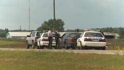 HD2009-8-9-1 many police cars on highway Footage