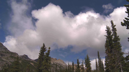 HD2009-8-10-19 cloudscape forest and Mountains TL Stock Video Footage