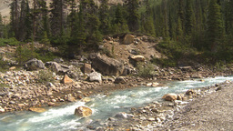 HD2009-8-10-25 river valley mountains tilt Footage