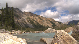 HD2009-8-10-27 river valley mountains low angle Stock Video Footage