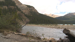 HD209-8-11-2 river and mountain valley Footage