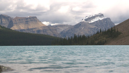 HD209-8-11-6 Bow lake and mountain LL Stock Video Footage