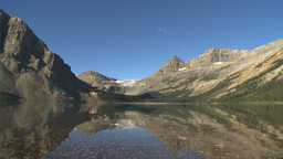 HD2009-8-14-2 Bow lake and mtn ealr morning Stock Video Footage