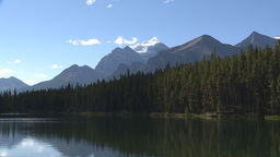 HD2009-8-14-10 Mt Temple and lake Stock Video Footage