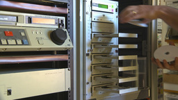 HD2009-8-17-1 Loading DVD duplicator Footage