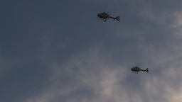 HD2009-8-20-2 police helicopters Stock Video Footage