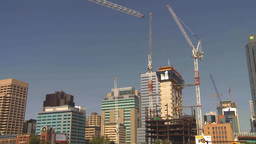 HD2009-8-20-14 const cranes many TL Stock Video Footage