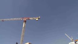 HD2009-8-20-16 const cranes many montage TL Stock Video Footage