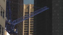 HD2009-8-20-20 const cranes TL Stock Video Footage