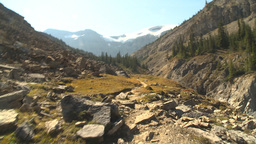 HD2009-8-20-28 hike along mtn trail Stock Video Footage