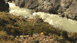 HD2009-8-20-30 river gorge pan Stock Video Footage