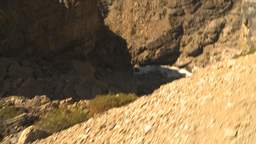 HD2009-8-21-2 POV hike steep trail look down Stock Video Footage