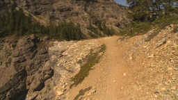 HD2009-8-21-2 POV hike steep trail look down Stock Video Footage