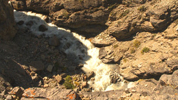 HD2009-8-21-4 steep trail pan glacier to gorge and back Stock Video Footage