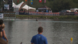 HD2009-8-23-2RC water ski comp stunt jump barefoot Footage