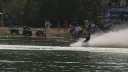 HD2009-8-23-4RC water ski comp stunt barefoot Stock Video Footage