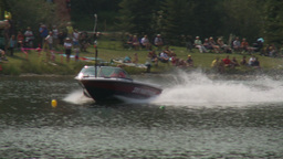 HD2009-8-23-8RC water ski comp female Stock Video Footage