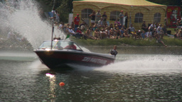 HD2009-8-23-10RC water ski comp good Stock Video Footage