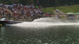 HD2009-8-23-10RC water ski comp good Stock Video Footage