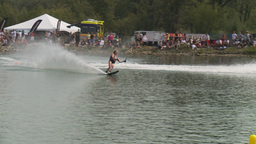 HD2009-8-23-12RC water ski comp good Stock Video Footage