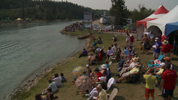 HD2009-8-23-14RC water ski comp Stock Video Footage