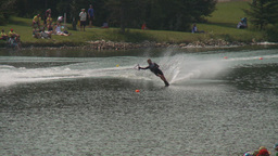 HD2009-8-23-16RC water ski comp good Stock Video Footage