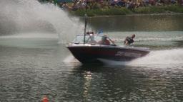 HD2009-8-23-16RC water ski comp good Stock Video Footage