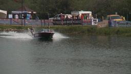 HD2009-8-23-18RC water ski comp good cu follow Stock Video Footage