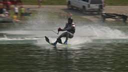 HD2009-8-23-24RC water ski jump comp Stock Video Footage