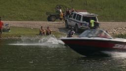 HD2009-8-23-26RC water ski jump comp Stock Video Footage