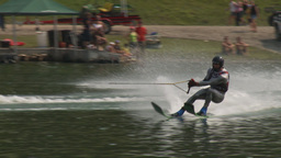 HD2009-8-23-26RC water ski jump comp Stock Video Footage