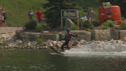 HD2009-8-23-28RC water ski jump comp Stock Video Footage