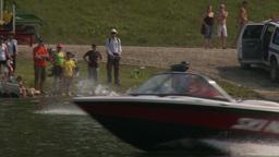 HD2009-8-23-30RC water ski jump comp Stock Video Footage