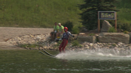 HD2009-8-23-32RC water ski jump comp Stock Video Footage
