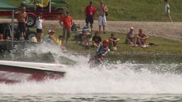HD2009-8-23-32RC water ski jump comp Stock Video Footage
