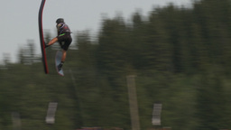 HD2009-8-23-34RC water ski jump comp Stock Video Footage