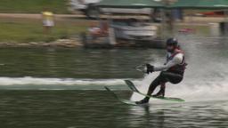 HD2009-8-23-36RC water ski jump comp Stock Video Footage
