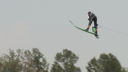 HD2009-8-23-36RC water ski jump comp Stock Video Footage
