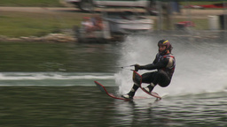 HD2009-8-23-38RC water ski jump comp Stock Video Footage