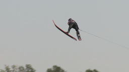 HD2009-8-23-38RC water ski jump comp Stock Video Footage