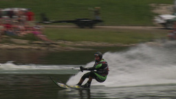 HD2009-8-23-40RC water ski jump comp Stock Video Footage