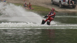 HD2009-8-23-42RC water ski jump comp Stock Video Footage