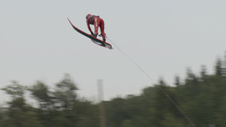 HD2009-8-23-42RC water ski jump comp Stock Video Footage
