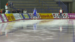 HD2009-12-1-2 Speed skating oval race LL Stock Video Footage