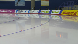 HD2009-12-1-4 Speed skating oval race Stock Video Footage