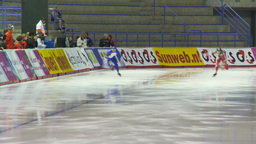 HD2009-12-1-10 Speed skating oval race LL Stock Video Footage