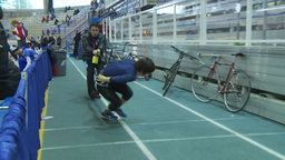 HD2009-12-1-14 Speed sk8 training Stock Video Footage